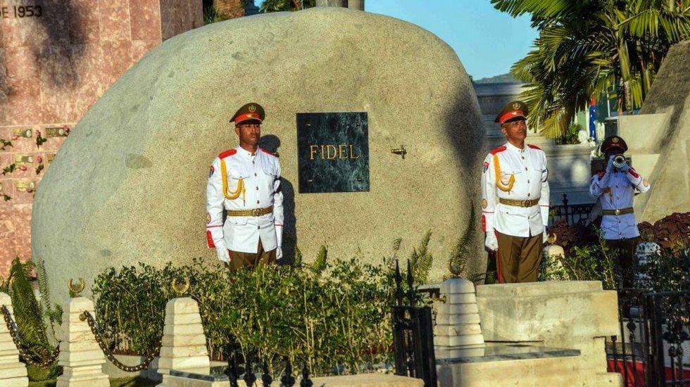 Inhumación de las cenizas de Fidel Castro