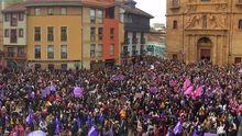 Las plazas asturianas, a reventar en el 8-M