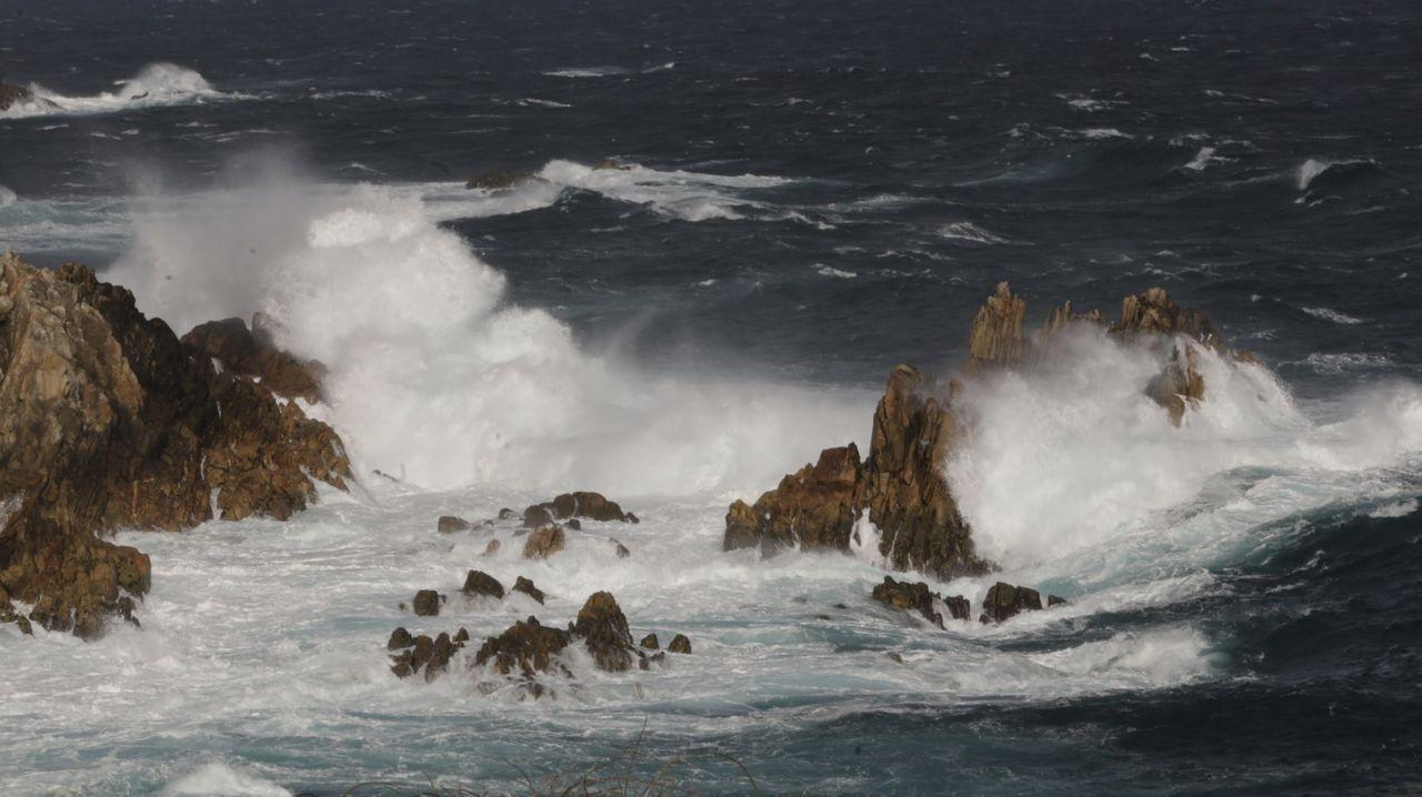 La inestabilidad meteorológica vuelve a azotar la costa coruñesa