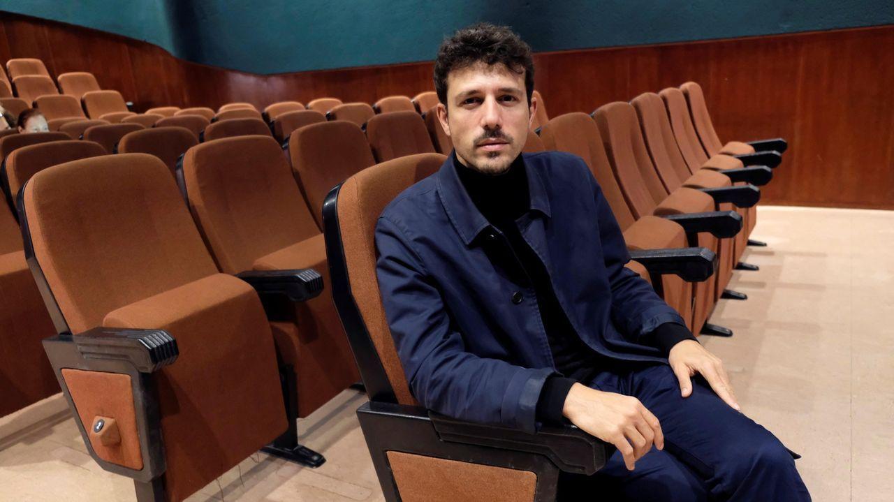 Lectura del palmarés del FICX.Ramón Lluis Bande, en la sede del FICX