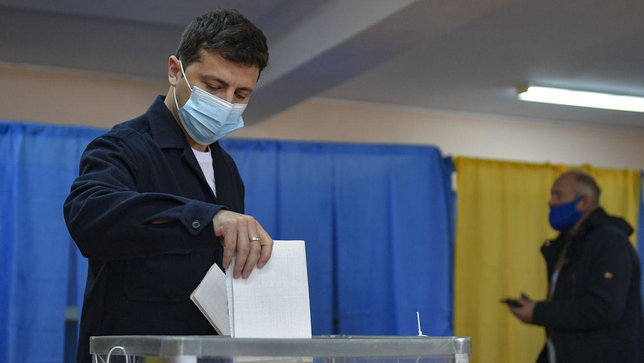 Volodimir Zelenski, en las elecciones locales del domingo