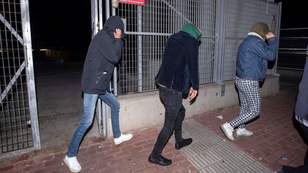 Los tres jóvenes que fueron detenidos por la supuesta agresión sexual en Murcia, el pasado día 4, tras quedar en libertad provisional sin fianza