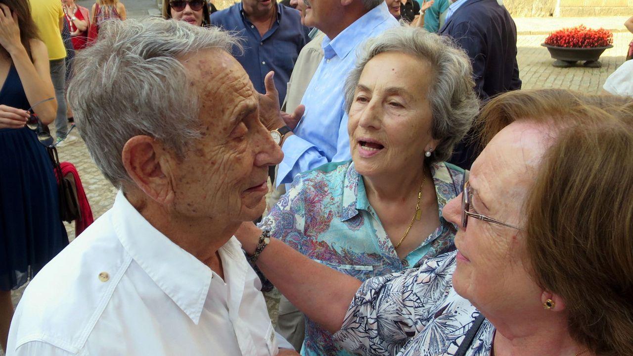 Manuel Jorge, nunha das súas últimas visitas á súa Chantada natal