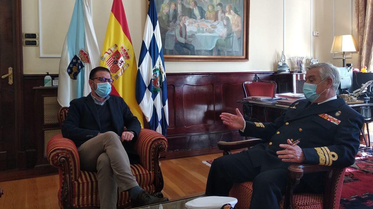 En la imagen, Ángel Mato y Antonio Duelo Menor