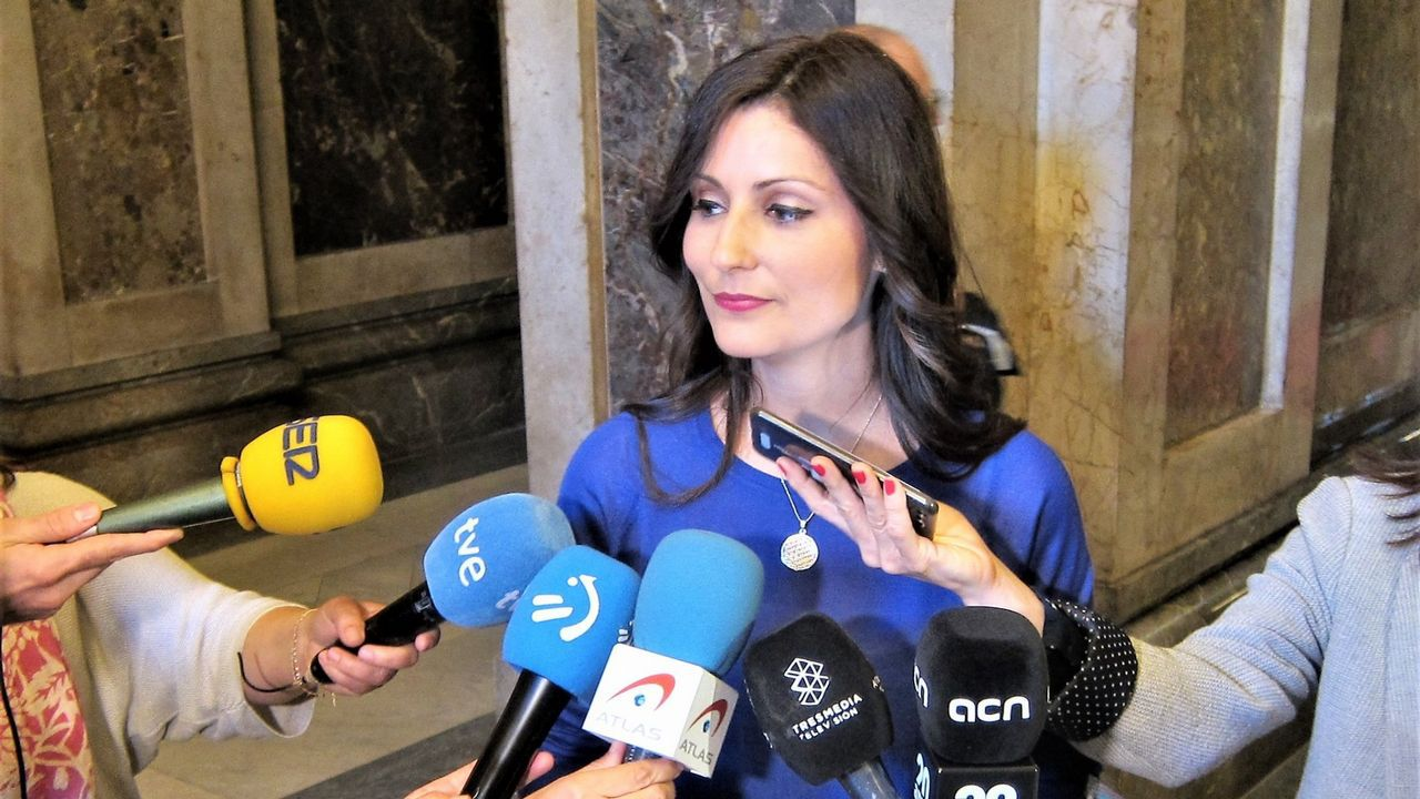 Lorena Roldán, portavoz de Cs en el Parlamento catalán