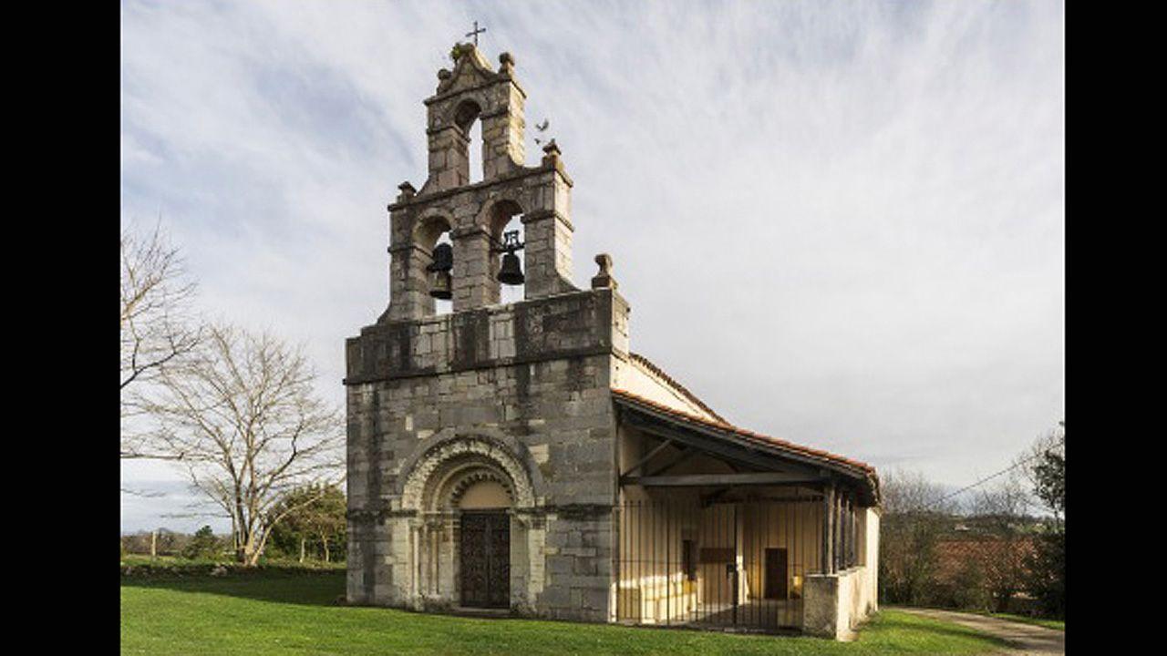 La iglesia románica de San Martín de Pereda, en Oviedo