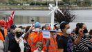 Trabajadores de Vestas y familiares, en una manifestación en Viveiro