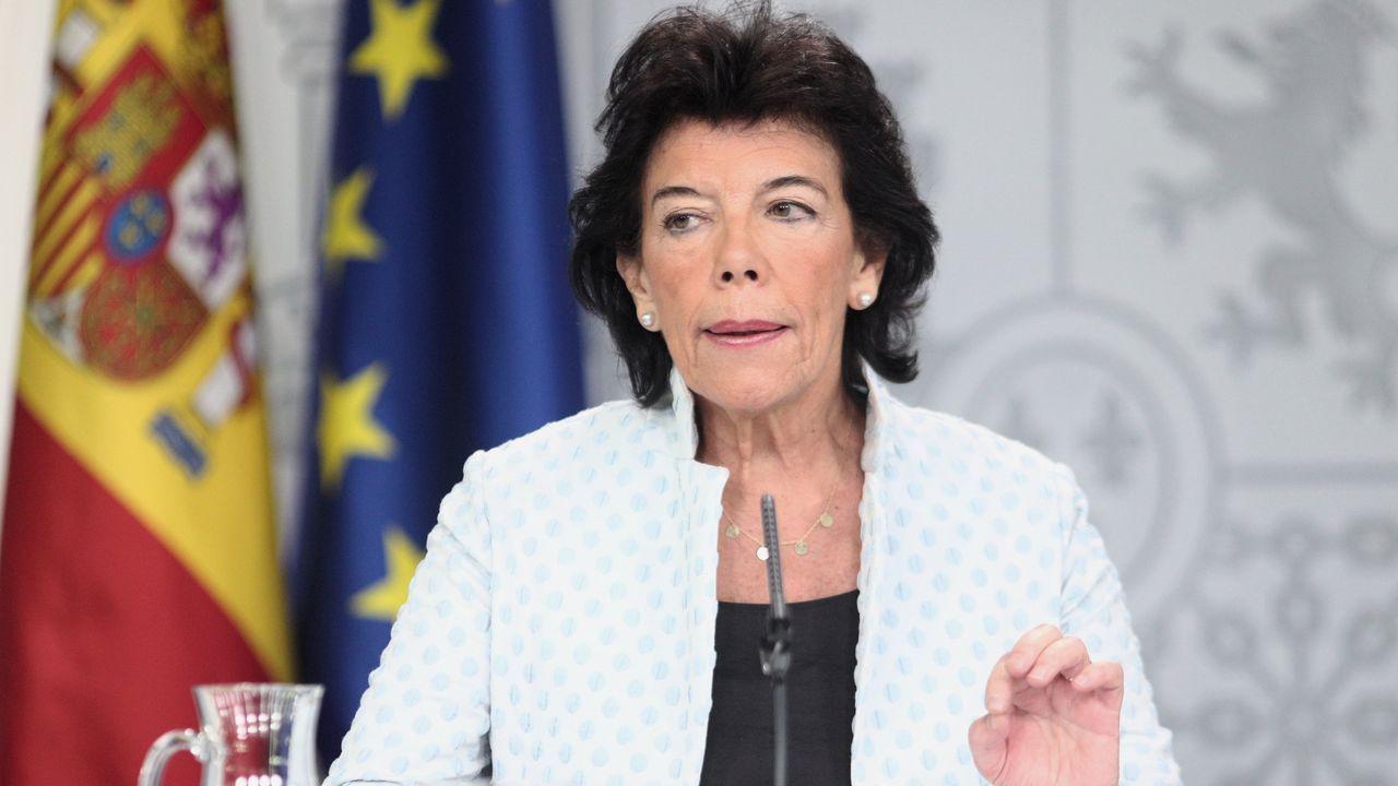 Isabel Celaá, en la rueda de prensa posterior al Consejo de Ministros