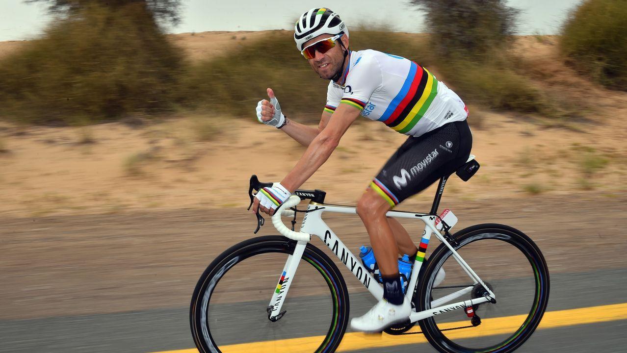 Nairo Quintana en el momento de su ataque al Galibier
