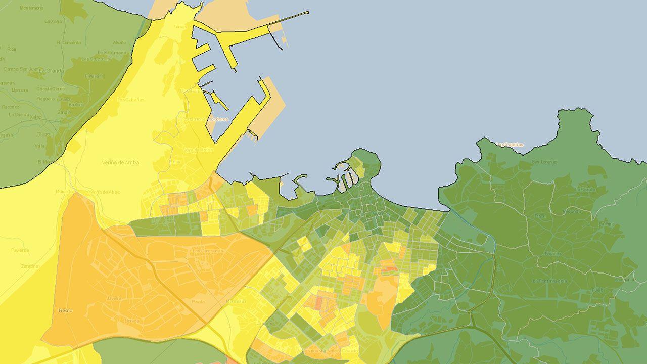 Atlas de Distribución de Renta de los Hogares en Gijón