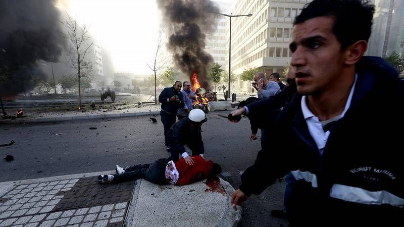 Atentado en el centro de Beirut