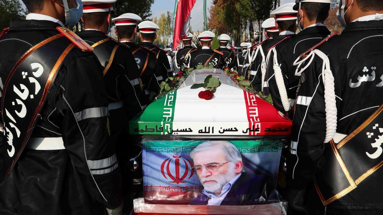Irán despidió este lunes a Mohsen Fajrizadeh con honores de «mártir»