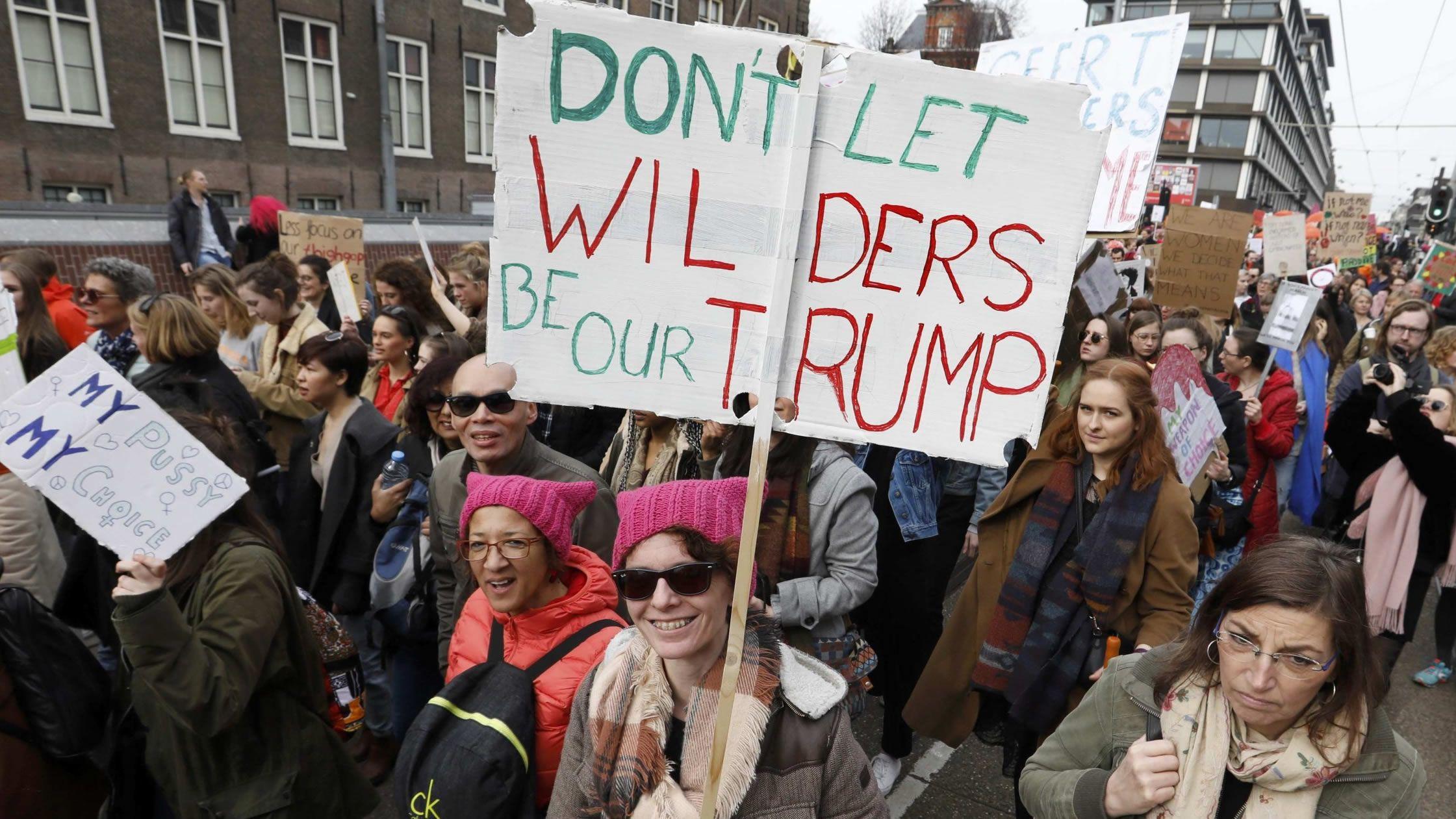 Manifestación contra el ultra Wilders en Ámsterdam