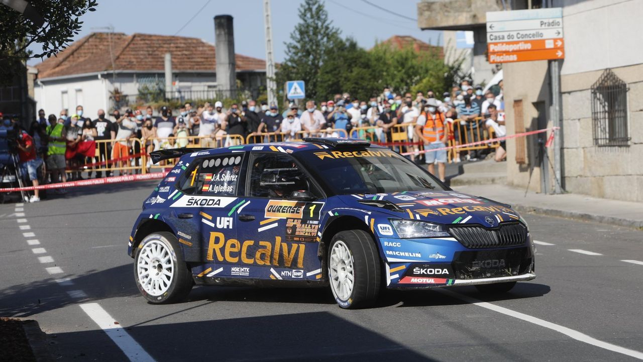 Las mejores imágenes del 54º Rali de Ourense.Pardo acudió al rali de casa con un coche de menores prestaciones