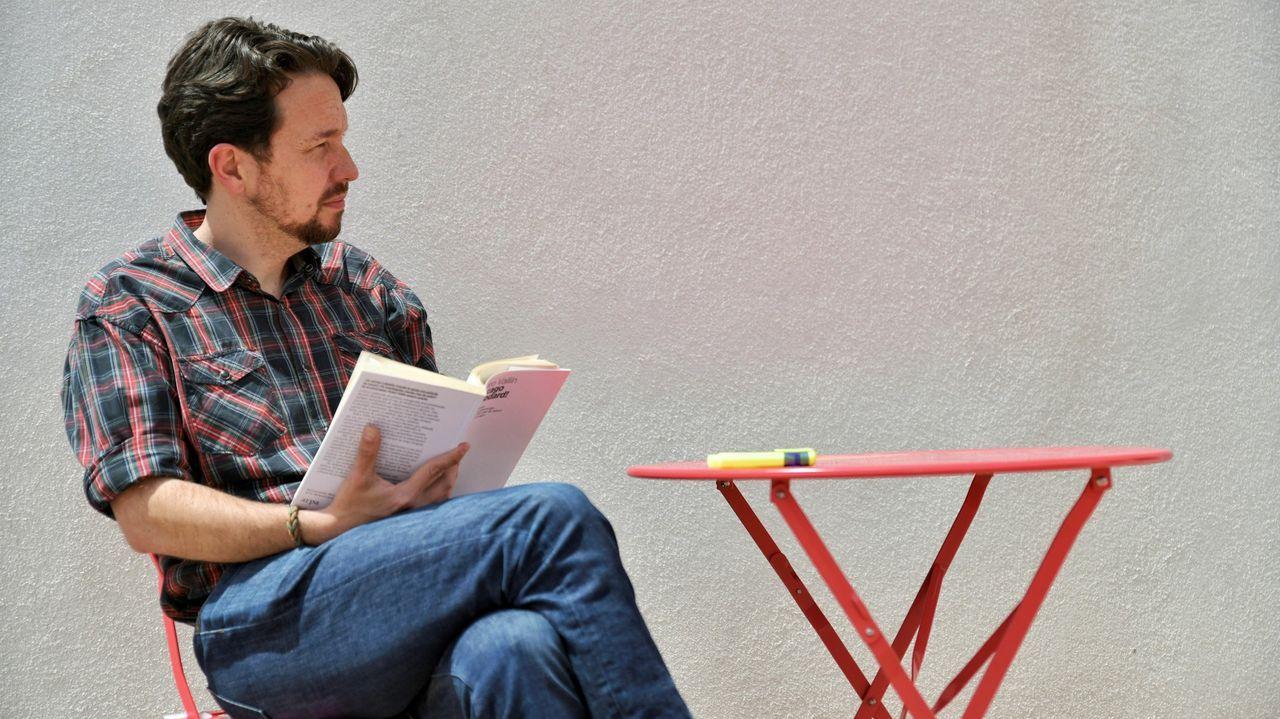 Alberto Garzón y Pablo Iglesias, tras ratificar el acuerdo IU-Podemos