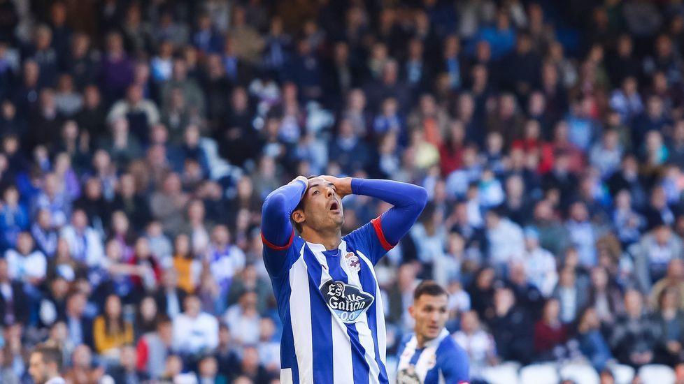 El Deportivo-Getafe, en fotos.Borges lamenta una ocasión perdida ante el Getafe