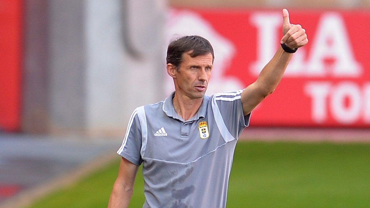 Ziganda Numancia Real Oviedo Los Pajaritos.José Ángel Ziganda, durante el encuentro ante el Numancia