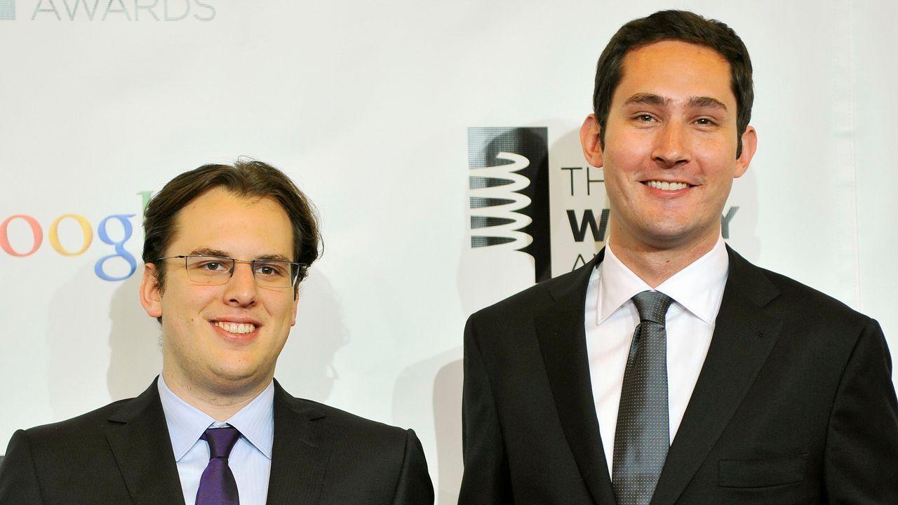 Krieger y Systrom, cofundadores de Instagram