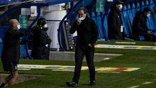 Anquela Real Oviedo Alcorcon Carlos Tartiere.Juan Antonio Anquela, en la banda del Tartiere durante el Real Oviedo - Alcorcón