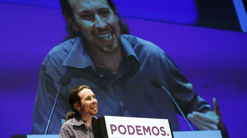 Los fichajes más sonados de Telefónica.Pablo Iglesias durante el «Otro Estado de la Nación».