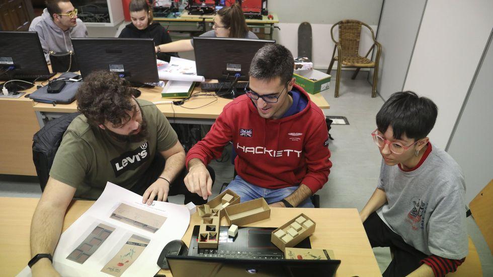 Imagen de archivo del pasado febrero en la escuela de diseño Mestre Mateo de Santiago, en la especialidad de diseño de producto