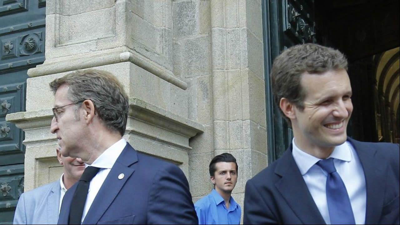 Feijoo y Casado, en una de las últimas visitas de este último a Galicia