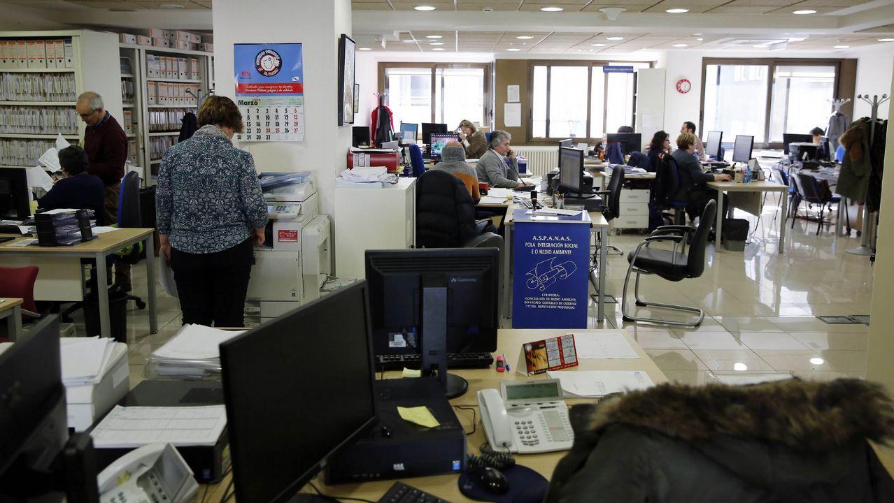 Funcionarios de la Xunta en Ourense