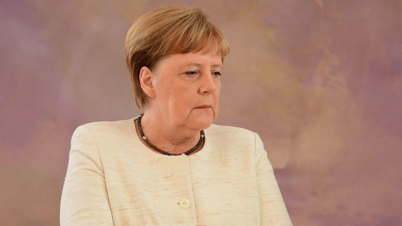 Aspirantes a dirigir los puestos más relevantes de la UE.La canciller alemana durante la rueda de prensa en la que respondió a las preguntas sobre su salud