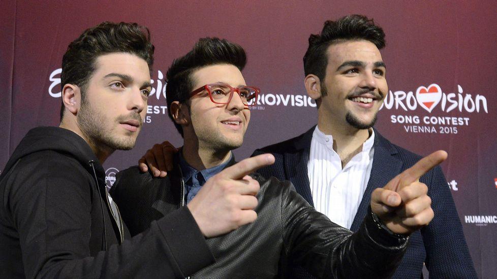 Los miembros de Il Volo, representantes de Il Volo.