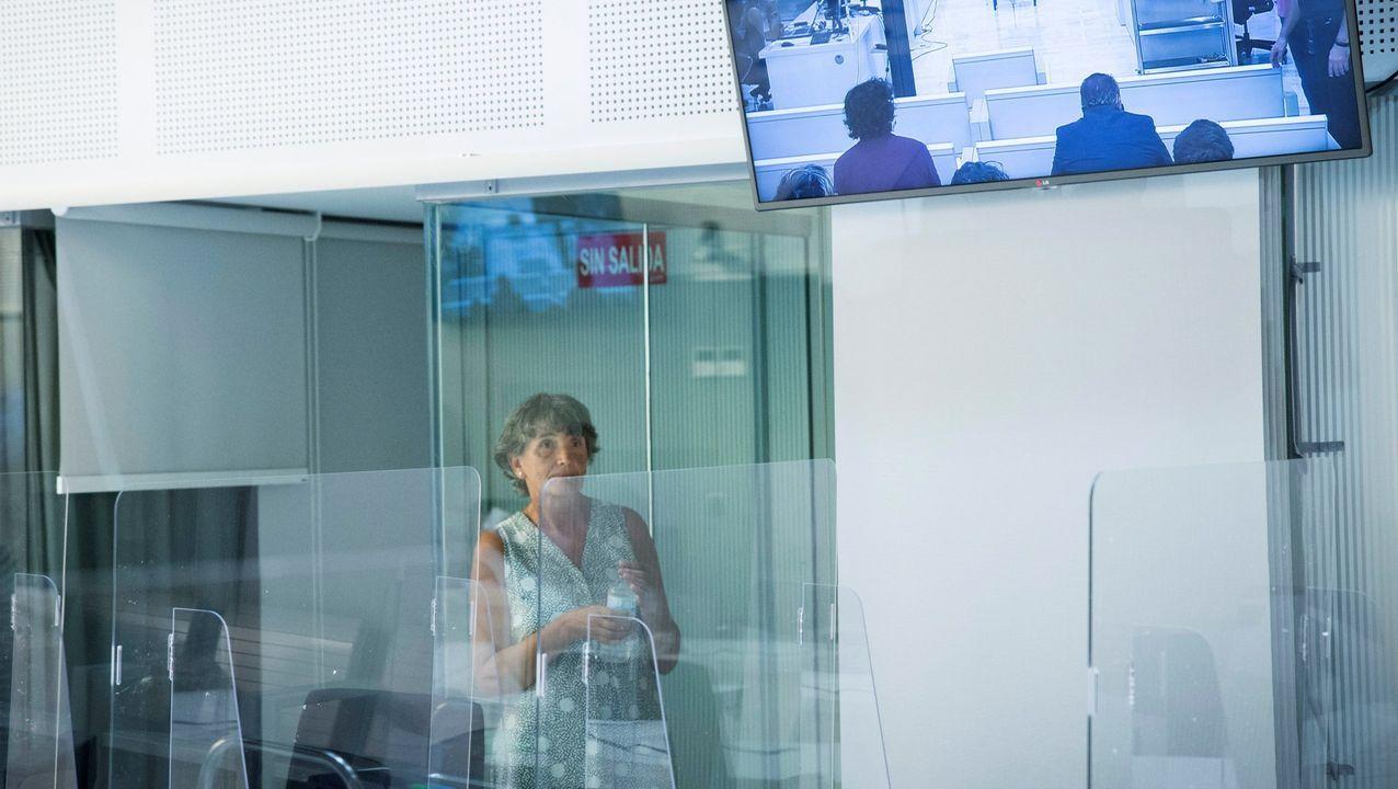 La dirigente etarra Soledad Iparraguire, Anboto, durante el juicio en su contra celebrado en julio en la Audiencia Nacional en Madrid