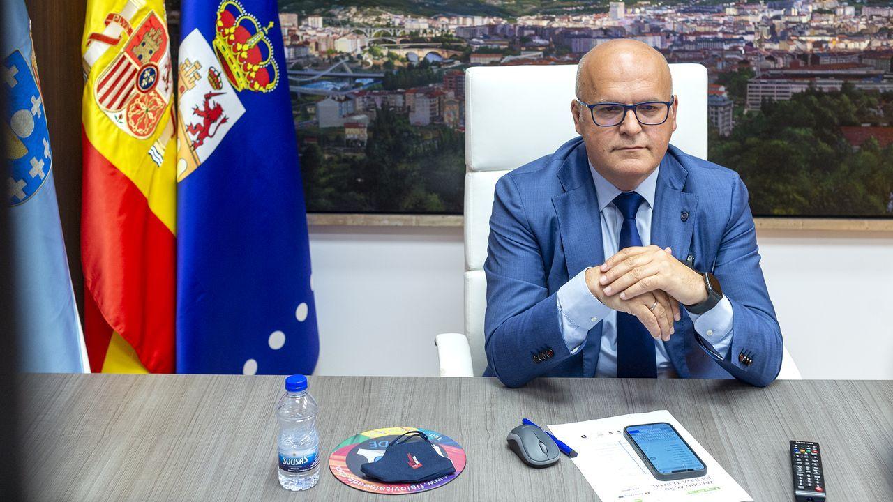 José Manuel Baltar, participando en un encuentro telemático