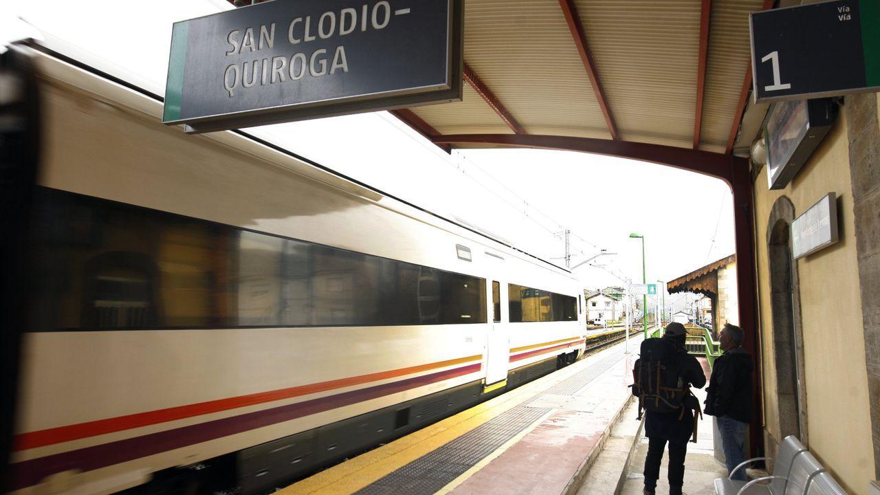 Estación de ferrocarril de San Clodio, una de las situadas en la línea Monforte-Covas