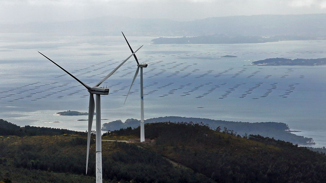 Los trabajos de construcción de un parque eólico, por dentro.Parque eólico de Los Llanos de La Aldea, en San Bartolomé de Tirajana (Gran Canaria), de Ecoener