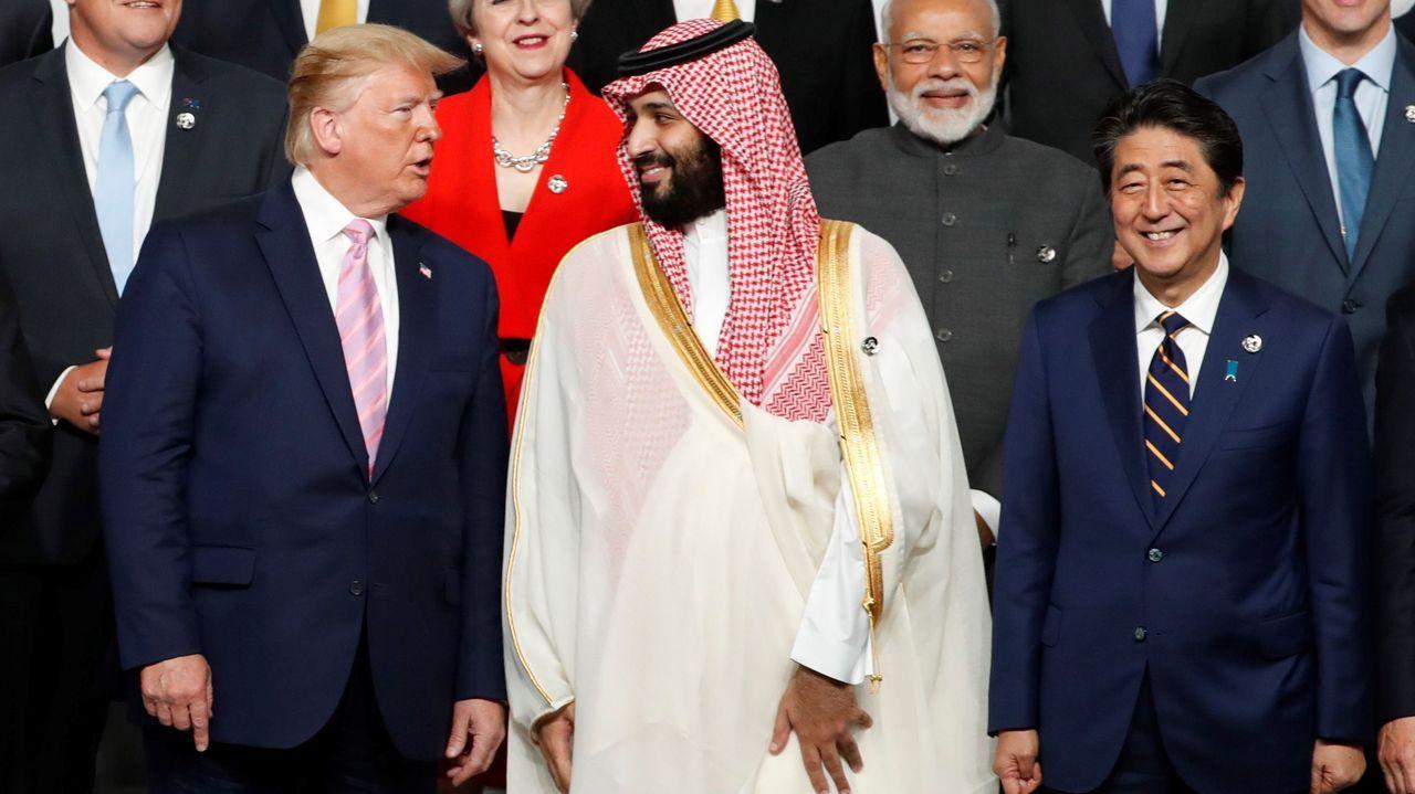El presidente Trump con el príncipe saudí Salman
