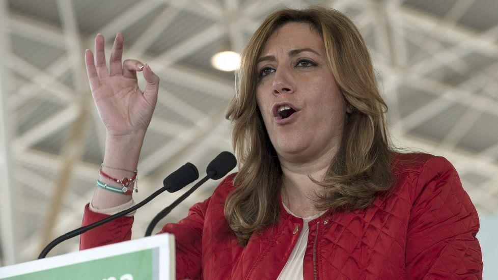 Jornada de mítines en Andalucía.Mariano Rajoy acompañó a Juanma Moreno en un acto del PP en Granada.