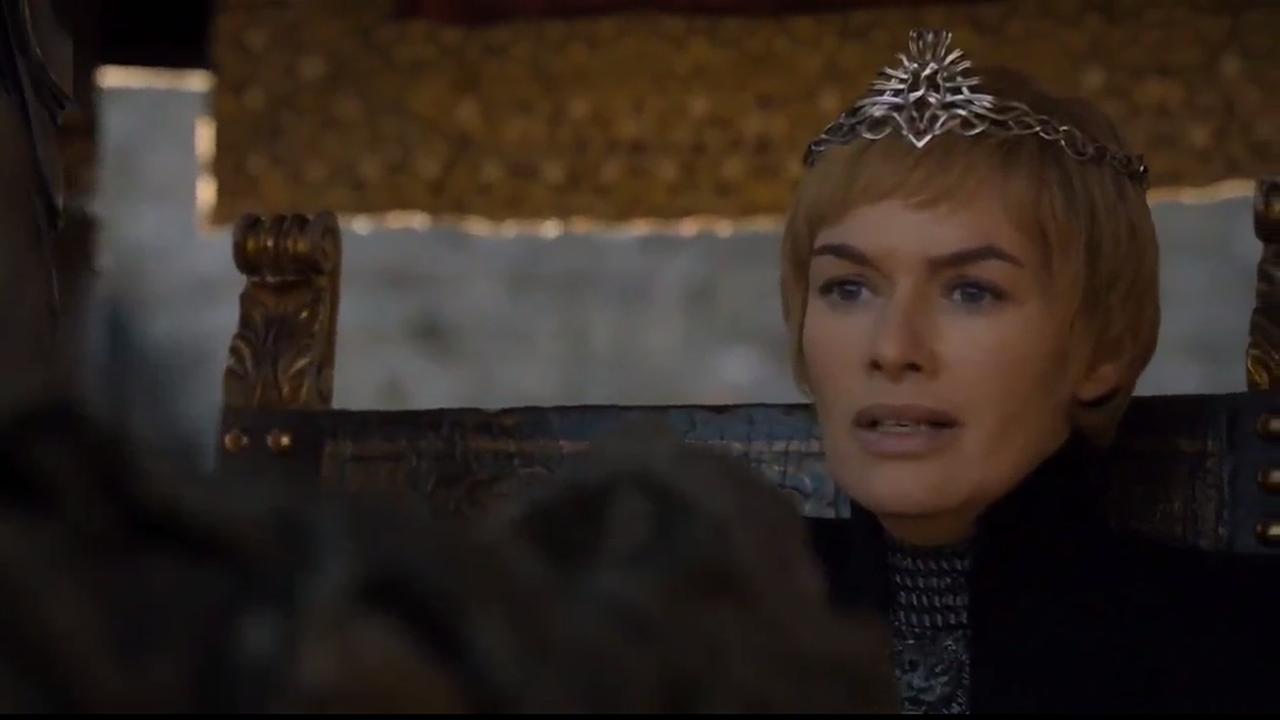 Cersei asustada al ver al espectro