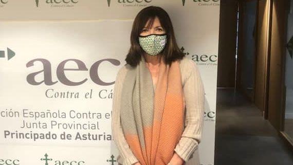 Margarita Fuente, presidenta de la Asociación Española Contra el Cáncer en Asturias