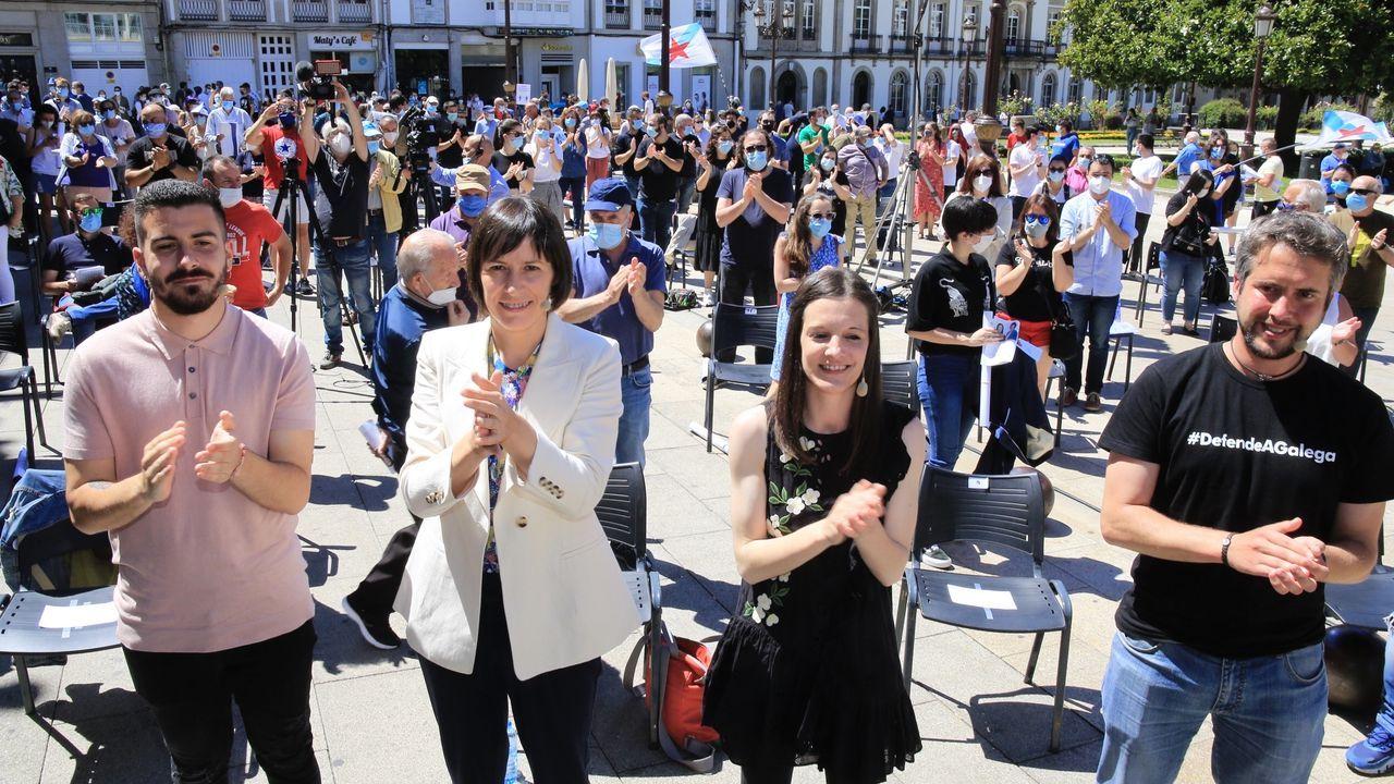 Ana Pontón participou nun mitin en Lugo este sábado pola mañá