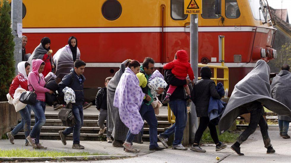 Refugiados en Sentilj, Eslovenia