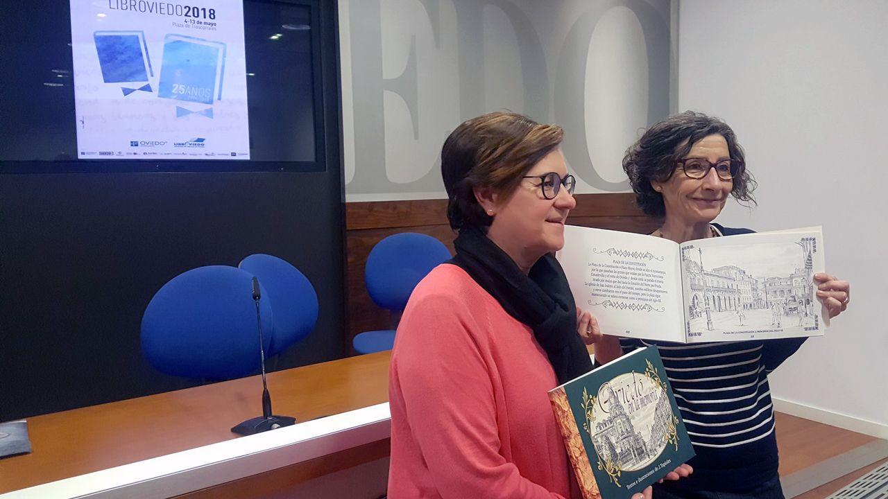 Acto de apertura de LibrOviedo.Mar Prieto y Mercedes González presentan la edición número 25 de LibrOviedo