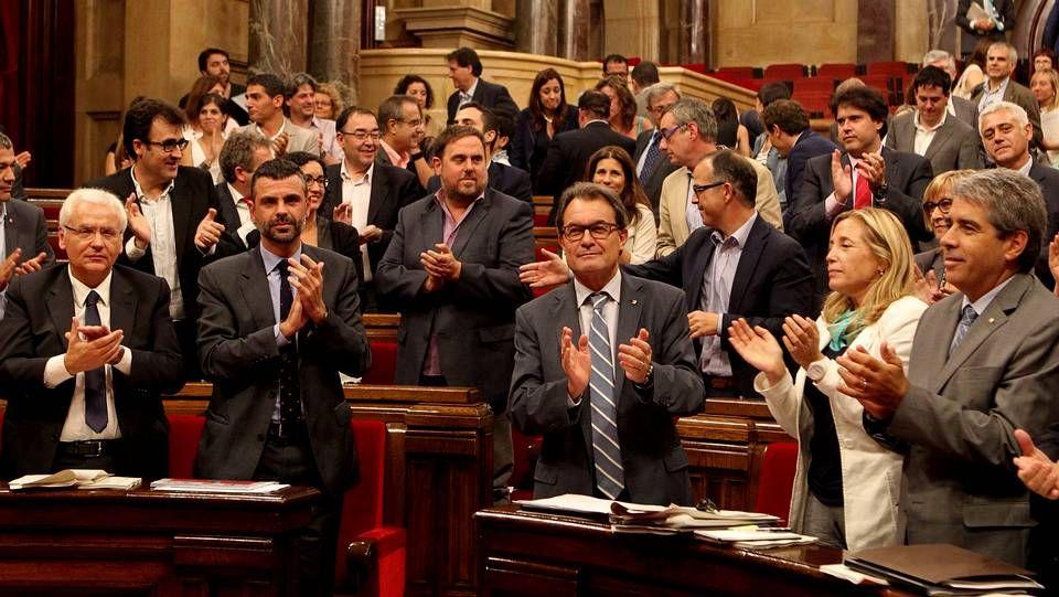 El expresidente de la Generalitat, en su comparecencia