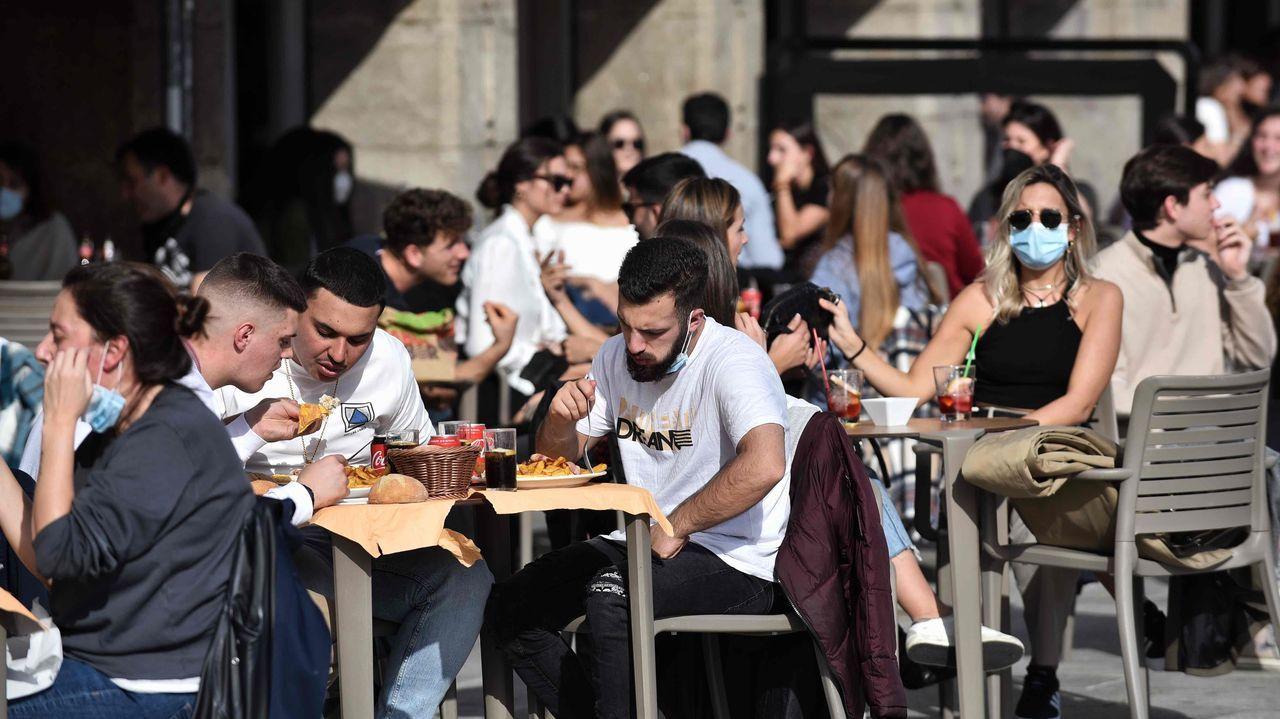 En A Coruña también había muchas ganas de terraza