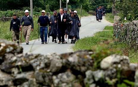 Imagen de archivo de la ruta de peregrinación por el municipio dezano de Rodeiro.