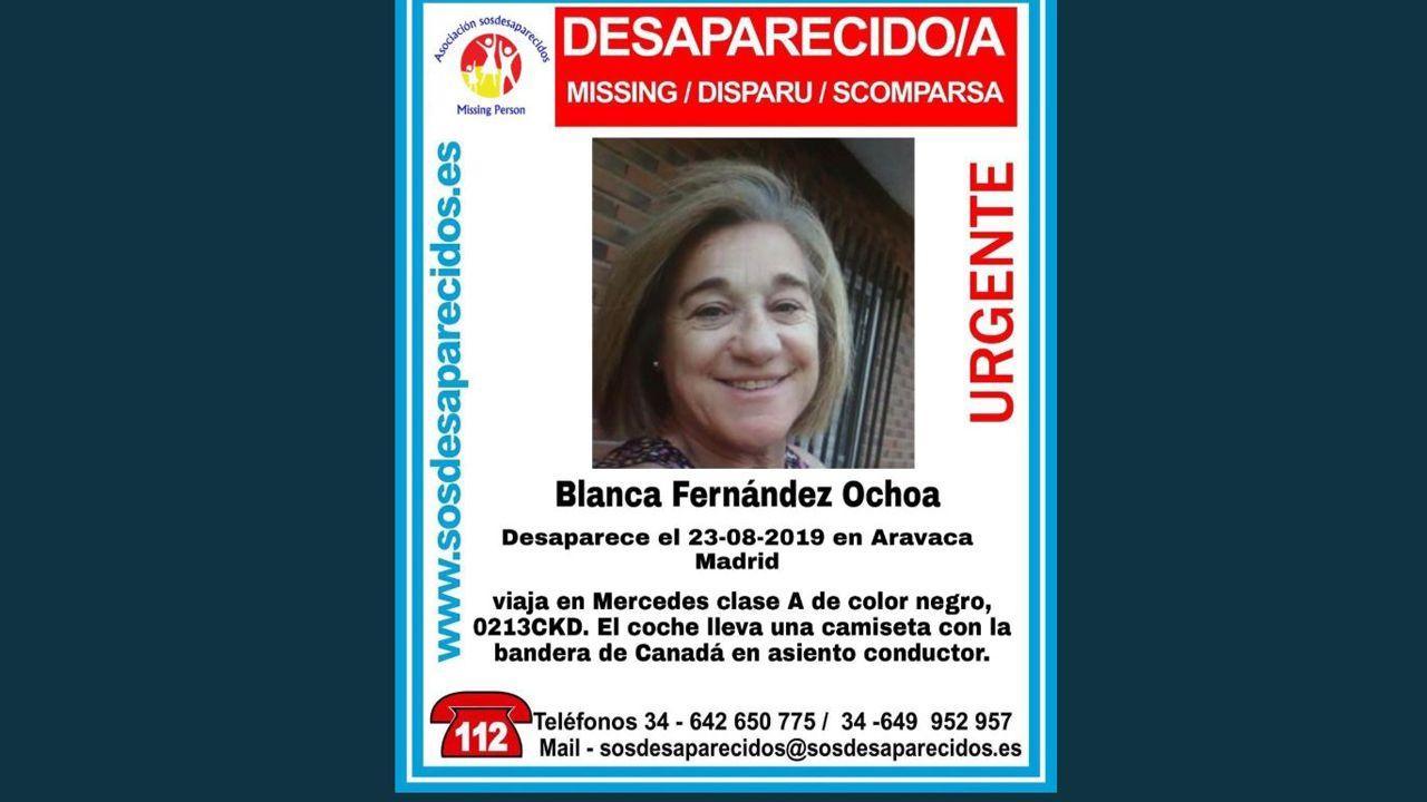Así fue el momento de la explosión sobre el escenario.Blanca Fernández Ochoa