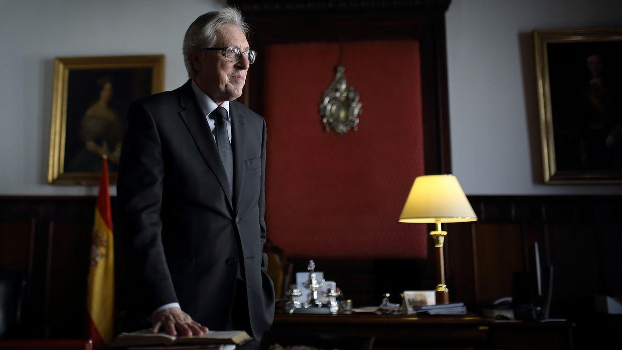 Miguel Ángel Cadenas, en su despacho del Tribunal Superior de Xustiza de Galicia