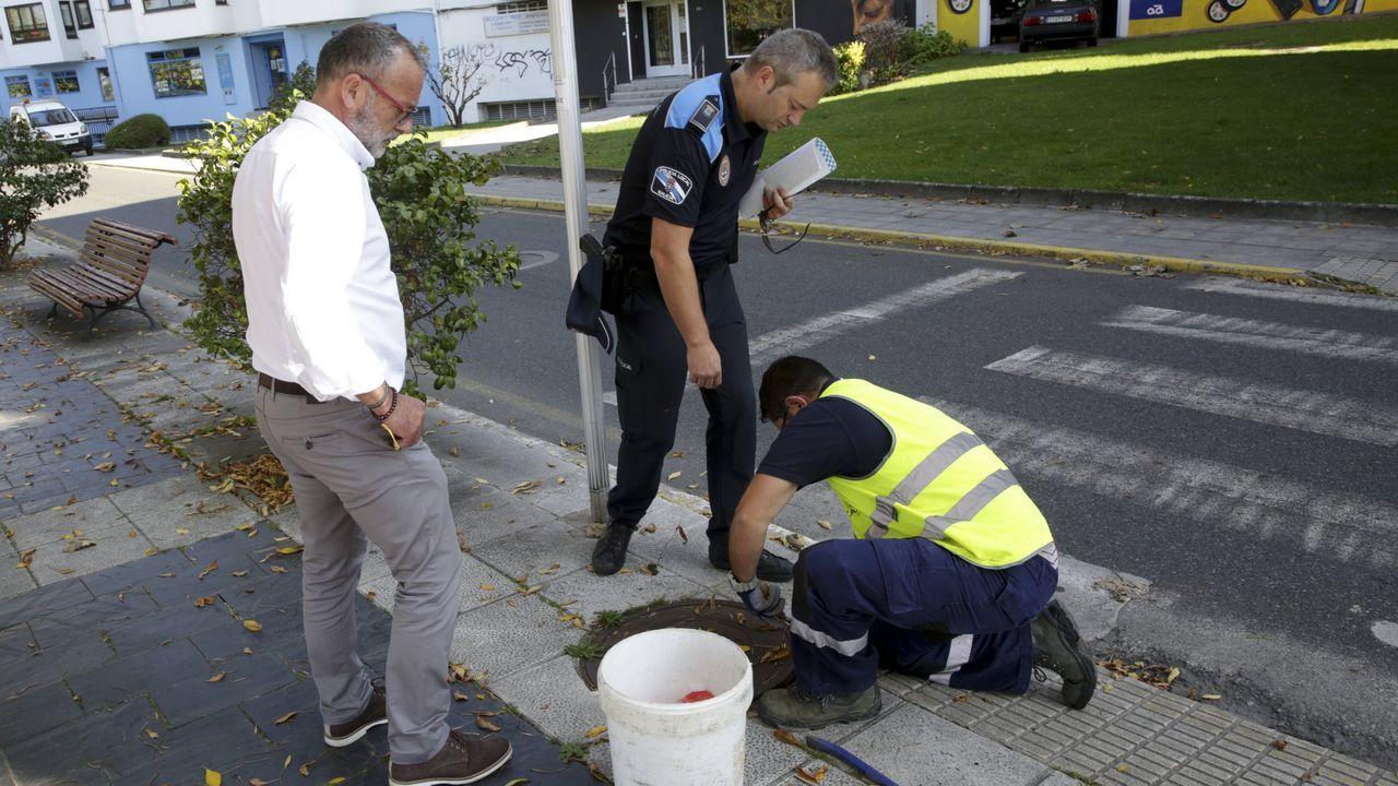 Imagen de archivo de una operación conjunta entre la Policía Local de Cambre y la Guardia Civil en el municipio