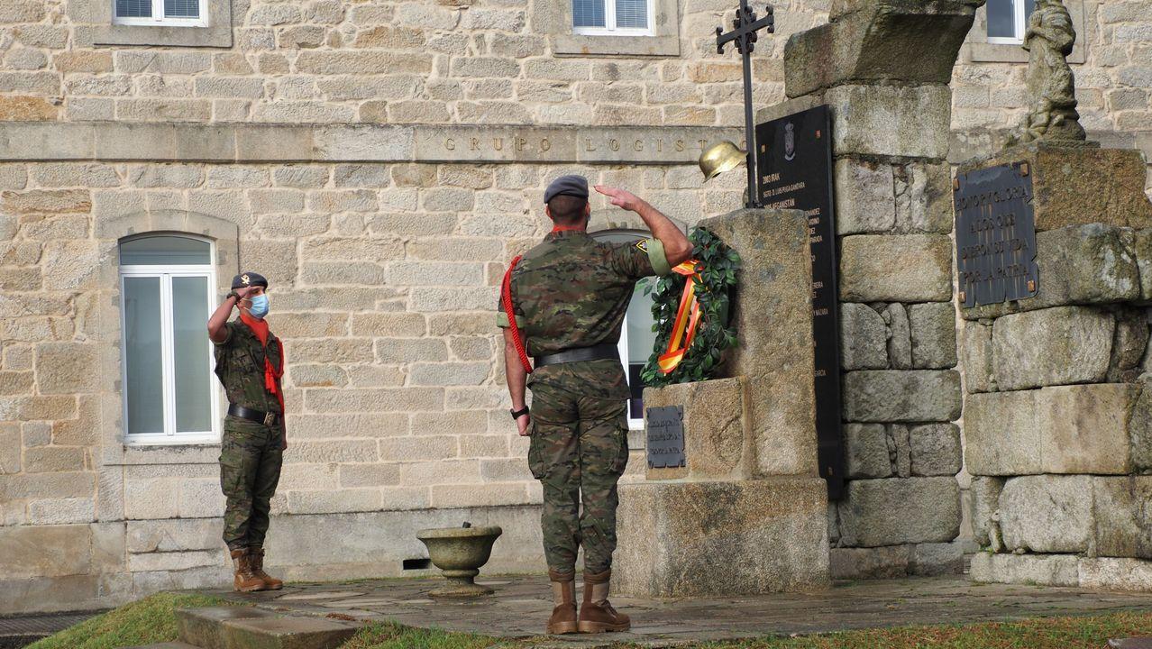 La Brilat de Pontevedra conmemora a su patrona con un sencillo acto.El Cuartel General realiza una marcha de endurecimiento por las sendas del parque forestal de A Fracha