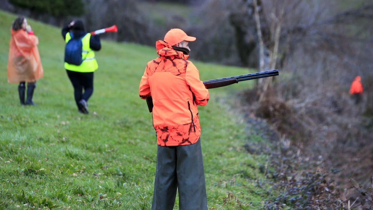 Los enfrentamientos entre animalistas y cazadores se sucedieron hace semanas durante el Campeonato Galego de Caza do Raposo