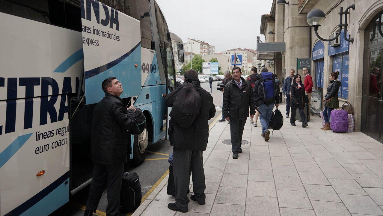 Leon.Imagen de principios de mayo de un traslado en autobús entre Ourense y Zamora