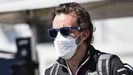 Fernando Alonso, a su llegada al circuito australiano